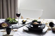 We love how this dark tableware makes simple tablescape look really cool!  . . . . #tablescape #tabledecor #tabledesign #tablesetting #tabledecoration #tableware #flatware #cutlery #tablescene #onthetable #onmytable #kitchendesign #kitchendecor #kitcheninspo #interiordesign #interiordecor #interiorinspo #weddingdecor #weddinginspo #weddingdetails #eventstyling #eventdesign #weddingplanner #eventdecor #tablefortwo #scandinaviandesign #scandinavianstyle #food #meal #lunch
