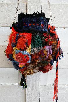 International Freeform Artist: Lena Thiel Love Crochet, Knit Crochet, Crochet Purses, Crochet Bags, Crochet World, Freeform Crochet, Crotchet, Purses And Handbags, Weaving