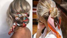 Bruna Ribeiro: CABELO: PENTEADOS COM LENÇOS Hair Styles, Beauty, Hairstyles With Scarves, Different Hairstyles, Horse Tail, Hair Type, Hair Down Hairstyles, Beleza, Hairdos