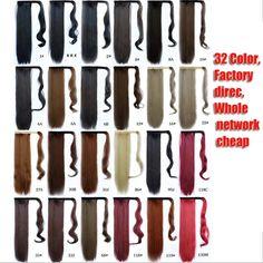 Envío Gratis 1 UNID 60 cm Clip En Cola de Caballo de Pelo Estilo 100% de la Alta calidad Abrigo de extensión Pedazo Del Pelo Recto colas de caballo