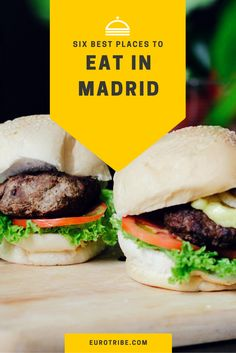 Six Best Places to Eat in Madrid #food #Spain