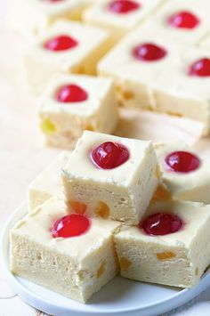 Pineapple Upside-Down Cake Fudge: The classic Pineapple Upside-Down Cake turned into a creamy fudge. It's like portable cake.
