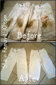 Now that's what I call stain removal success! There are lots of tips, tricks and instructions on Stain Removal 101 that everyone can use.