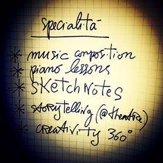 In fondo cosa so fare. Una riflessione in cinque punti. Collegabili... #music #skills #lessons #lomo #writing #journal
