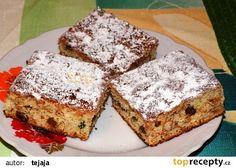 Jablkový koláč s ořechy a kandovaným ovocem recept - TopRecepty.cz