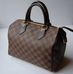 Louis Vuitton Speedy 25 Damier Ebene Bag - Satchel