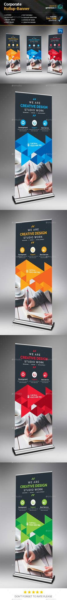 Creative Rollup Banner Template PSD. Download here: http://graphicriver.net/item/creative-rollup-banner/15693535?ref=ksioks
