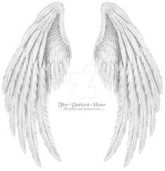 Folded White psd by Thy-Darkest-Hour tattoos on back on back skull on back of neck tattoos on back Tribal Tattoos, Tattoos Skull, Celtic Tattoos, Body Art Tattoos, Cool Tattoos, Wing Tattoos, Sleeve Tattoos, Tree Tattoos, Fallen Angel Wings