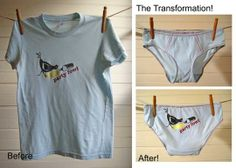 Custom Boy-Cut Underwear From Your Old Favorite Tee Shirt by La Vie en Orange | Hatch.co #custom