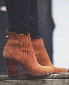 suede booties