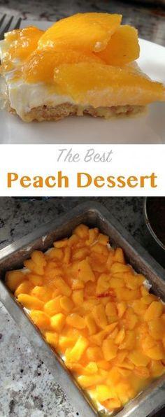 Best Peach Dessert the best peach dessert! perfect for peach season -recipe on the best peach dessert! perfect for peach season -recipe on Oreo Dessert, Dessert Party, Brownie Desserts, Coconut Dessert, Eat Dessert First, Mini Desserts, Summer Desserts, Easy Desserts, Delicious Desserts
