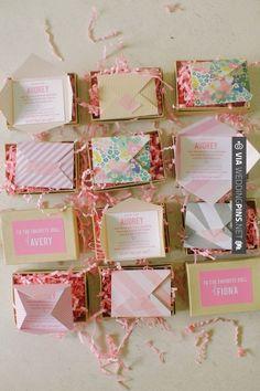 bridesmaid idea - simple yet beautiful invitations!