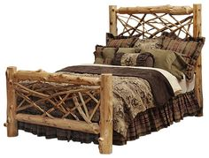 1000 Images About Log Beds On Pinterest Cedar Furniture Northern White Cedar And Logs