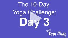 10 Day Yoga Challenge: Day 3 -Yoga for Lower Abs