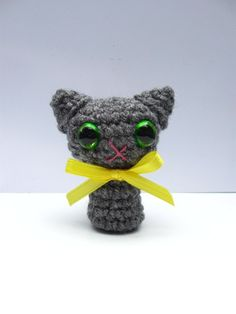 Tiny Crocheted Cat All Colors Available by LadybugGirl7 on Etsy, $10.00