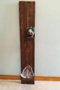Decorative Pallet Shelf-Vertical Pallet Decor by DuffsDecorAndMore