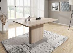 Eetkamertafel Danvill een houten eettafel in wit met eiken kleur. De ...