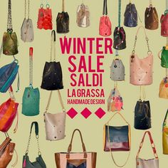 WINTER SALE at my shop! From sunday 12/2 to saturday 25/2. 2 weeks long 25% off discount on all bags using promo code WINTER2017 at the time of purchase. At the same time i'll load all my new creations! #staytuned 💥  #lagrassadesign #slowfashion