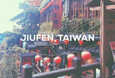 Jiufen, also spelled as Chiufen, is a famous mountain town located in northeastern Taiwan, located east of Taipei. It is famous for the old street's cobblestone path of narrow alleyways fille… Old Street, Street Food, Food Stall, Alleyway, Taipei, Old Things, Mountain, Travel, Viajes
