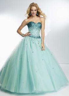 Pool Colored Prom Dresses
