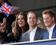 Kate, William & Harry Cheering for GB Olympic time