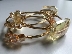 Love this bangle set #WineAndWires