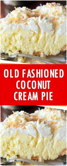 This pie was amazing! I made this yesterday for my brother's 25th wedding anniversary and my son, who at first turned his nose up at it (coconut-yuck!), asked me to make another one as soon Old Fashioned Coconut Cream Pie Recipe, Easy Coconut Cream Pie, Coconut Flour, Coconut Cream Dessert, Coconut Custard, Dessert Ideas, Pie Dessert, Amazing Dessert Recipes, Coconut Desserts