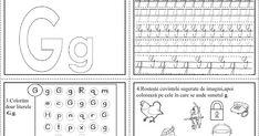 Mai jos putem vedea fișe de lucru ce conțin literele alfabetului, dar și elemente ce pot fi colorate ori identificate și denumit... Bullet Journal, Craft, Words, Learning To Write, Reading, Creative Crafts, Crafting, Handmade, Do It Yourself