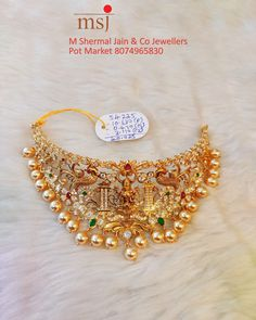 Temple Jewellery, Gold Jewellery, Jewelery, Pearl Jewelry, Indian Jewelry, Antique Jewelry, Gold Wedding Jewelry, Bridal Jewelry, Gold Choker Necklace