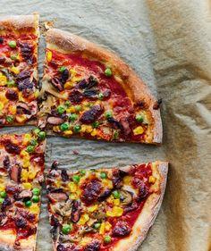 Keresés a következőre: pizza Mozzarella, Vegetable Pizza, Vegan Recipes, Vegetables, Street, Kitchen, Food, Cooking, Vegane Rezepte