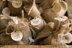 "Why @Krissy Staley is brilliant: ""@Alina Yeisley, I know you've talked about baking something for favors, but burlap sacks of coffee would be an adorable favor!! And I bet you could come up with a pretty cute ""Why we care about coffee"" explanation :) """