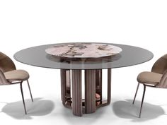 Search all products, brands and retailers of Dining tables: discover prices, catalogues and new features Glass Dining Table Designs, Dinning Table Design, Glass Round Dining Table, Round Glass, Window Glass Design, Circle Table, Table Furniture, Retro, Home Decor