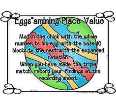 "First Grade Wow: ""Egg""stra Special Math - free printables"