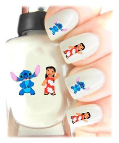 Easy to use, High Quality Nail Art Decal Stickers For Every Occasion! Ideal Christmas present, stocking filler Disneys Lilo and Stitch