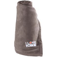 I Love My Yorkie - Large Fleece Blanket