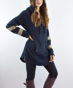 Look at this #zulilyfind! Blue Hooded Sequin Tunic #zulilyfinds