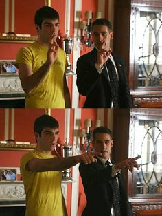 Zachary teaching Adrian how to be Sylar Heroes BTS