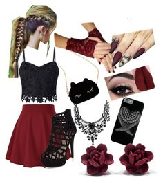 Friday Night Out by isasaurus on Polyvore featuring polyvore, fashion, style, Lipsy, WithChic and clothing
