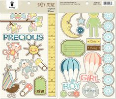 Fancy Pants Designs - Baby Mine Collection - Chipboard Stickers - Pieces at Scrapbook.com $4.99