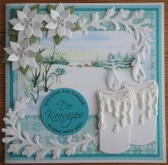 Image detail for -... of the larger candles at the bottom right of the card – so elegant