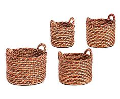 Набор из 4 корзинок Ciotola - водяной гиацинт