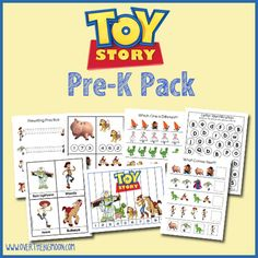 Toy Story Pre K Pack - Prewriting Practice Sheets, Cutting Practice, Finish the Pattern Sheet, Size, Sequencing Sheet, Toy Story Strip Puzzles, Counting Practice Cards,   Color the Buzz Lightyear, Vocabulary Cards    Letter Bb Identification – Toy Story Matching    Buzz Lightyear Magnet Sheet – Letter Bb Sorting Page