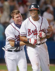 Chipper Jones and Andruw Jones - 2004 - I miss this. :(
