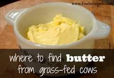 Where to Find Grass-fed Butter