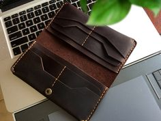 Genuine Leather iPhone 6 plus Clutch , Hand-Stitched Leather iPhone 6 plus Wallet , Mens Leather iPhone 6 plus Wallet Case, Anniversary Gift  This long personalized long wallet is 100% hand-stiched with CRAZY HORSE leather It is a wonderful gift for Christmas Day ,Bachelor Party ,Birthday, Valentines Day,Groomsman,or any special Occasion for Men.like father,busband,boyfriend The card slot on both side in this wallet ,it is perfect for carry when you travelled  DIMENSIONS: ---Length: 19.5 cm…