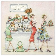All You Can Eat Buffet Berni Parker Card  £2.75 - FREE Postage!