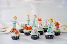 Cupcakes from a Little Prince Inspired Baptism Party via Kara's Party Ideas KarasPartyIdeas.com (10)