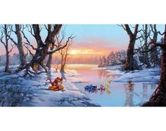 Disney Dreams Art - Rodel Gonzalez Playful Afternoon painting - Thomas Kinkade Online