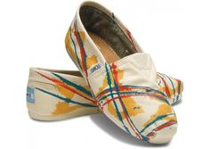 [TOMS - Tyler Ramsey Hand Painted Natural Women's Classics] - Shoes for a cause.