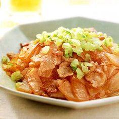 大根と豚バラ肉のオイスターソース炒め